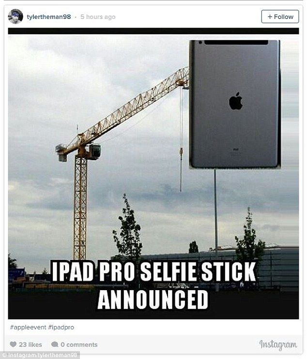 5fbea67defe59d Discover ideas about Large Ipad. Another one claimed selfie stick ...