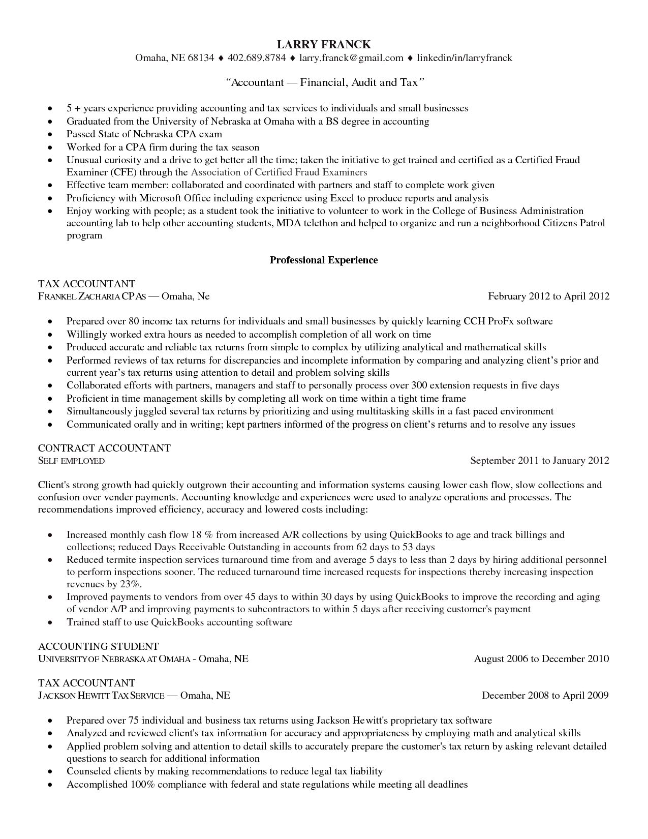 cpa board example separate entity accounting roe tax resume the