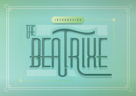Download Beatrixe + Graphic Pack by drizy on @creativemarket