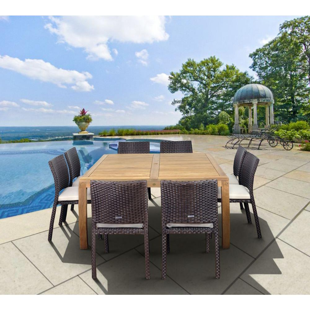 Amazonia Georgia 9-Piece Square Patio Dining Set With Off
