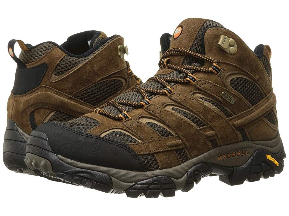 Merrell Moab 2 Mid Waterproof Men S Shoes Earth In 2021 Best Hiking Boots Hiking Boots Boots