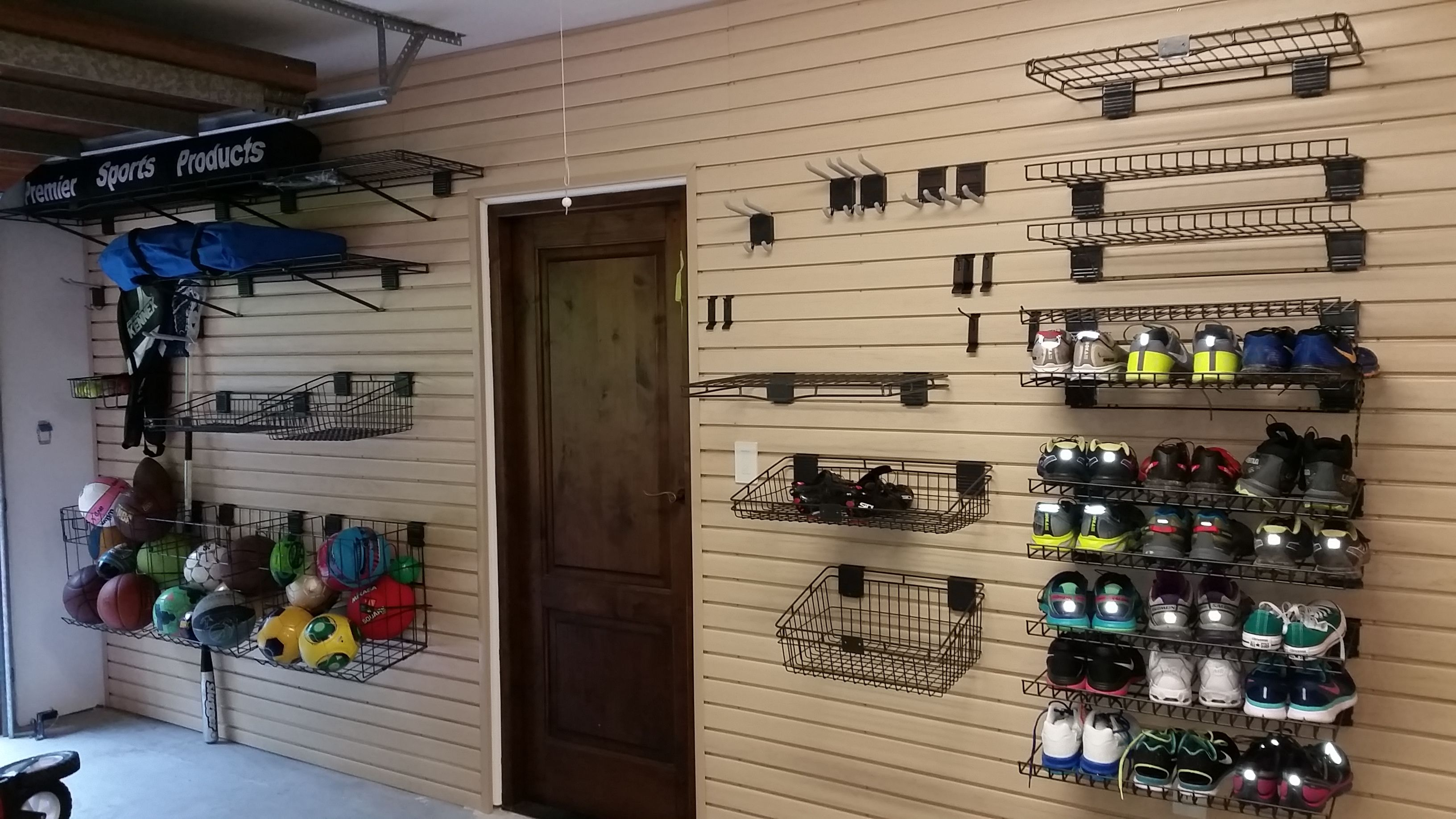 Garage Storage Solution. Complete With Slatwall StorALL Premium Wall Storage  Technology. Garage Solutions,