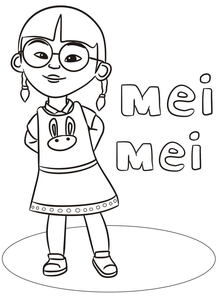 Mei Mei Upin Ipin Coloring Pages Buku Mewarnai Warna Gambar