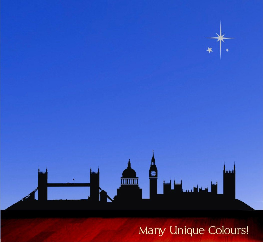 Old London Skyline Peter Pan Vinyl Wall Decal Sticker GBP2199 Via Etsy