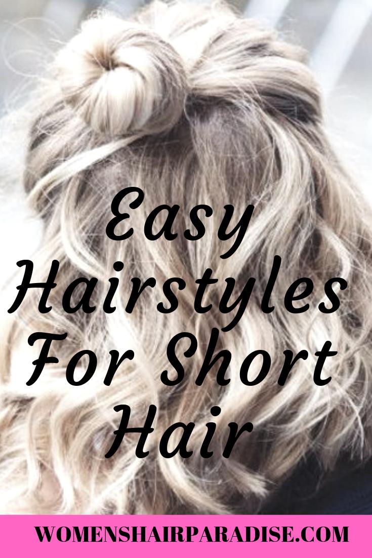 6 einfache Frisuren für kurzes Haar - Frauenhaarparadies#einfache #frauenhaarparadies #frisuren #für #haar #kurzes