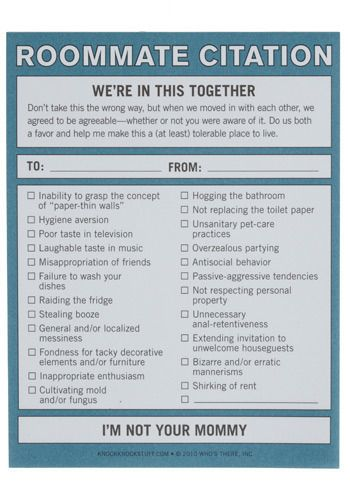 Are You And Your Roommate On The Same Page? Refer To The Roommate Citation  Pad For The Rules Of Being A Good Roommate. Part 31