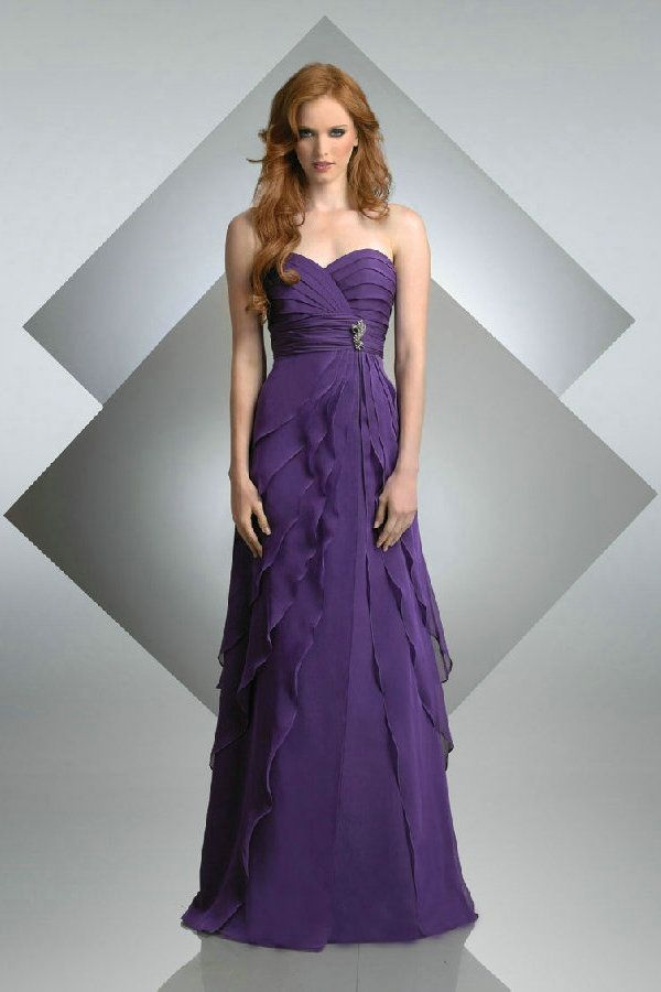Images of Purple Long Bridesmaid Dresses - Weddings Pro
