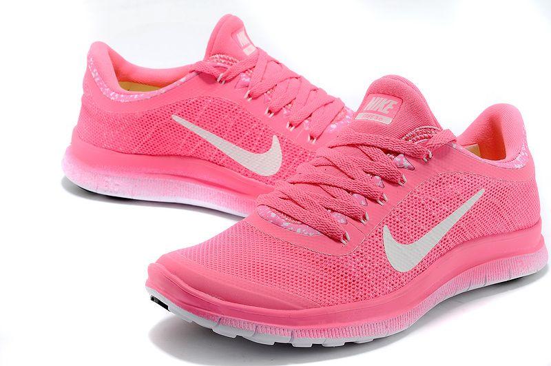 Femmes Nike Free 3.0 V6 Flyknit Rose Penser Rose Blanc