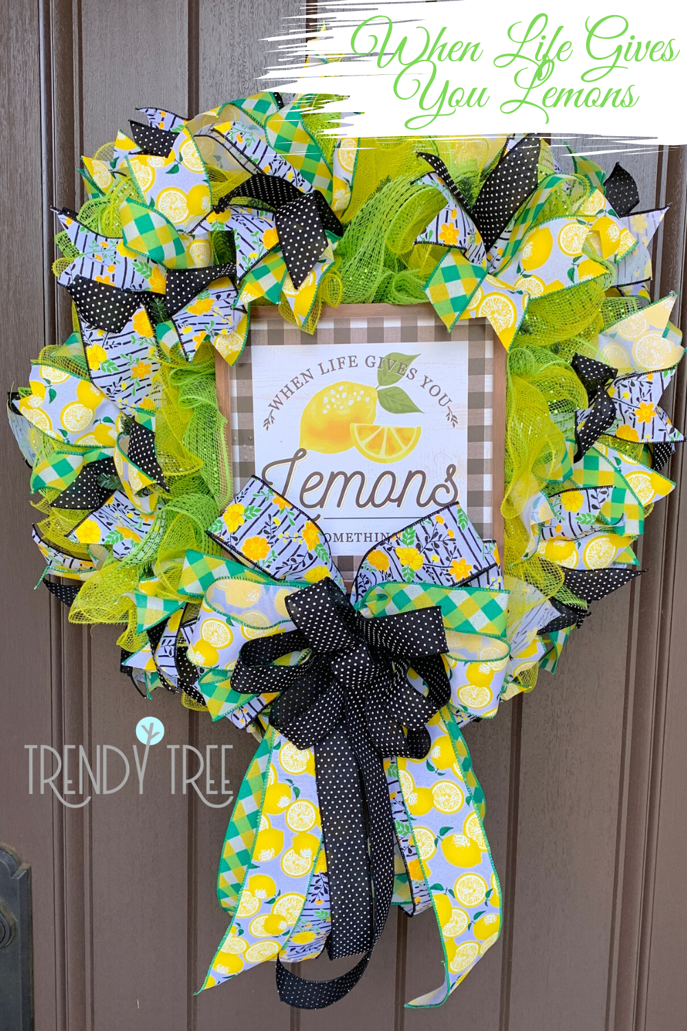 Photo of When Life Gives You Lemons – Make a Wreath! – Trendy Tree Blog   Holiday Decor Inspiration   Wreath Tutorials   Holiday Decorations   Mesh & ribbons