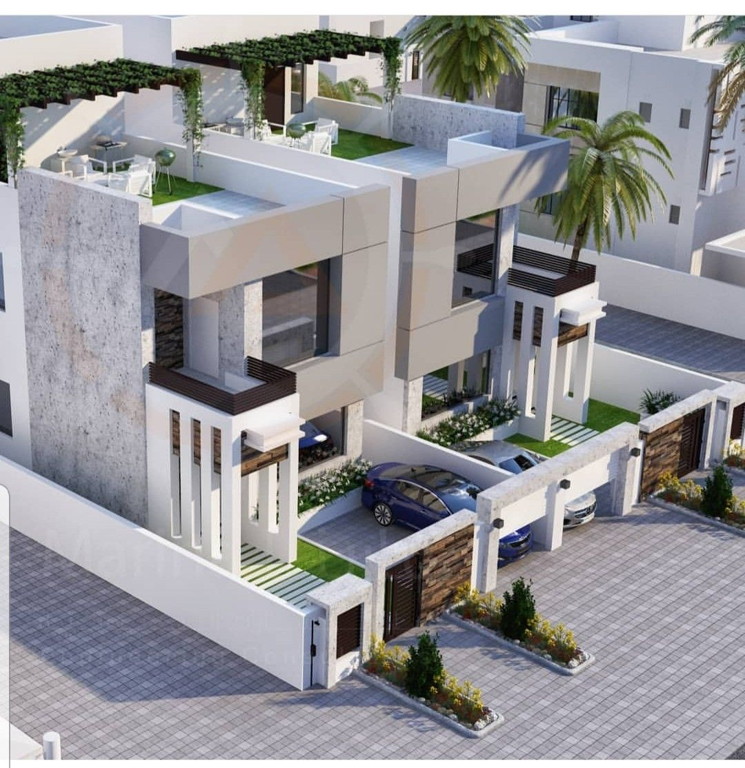 Pin By Hussain Syed On Elevations Row House Design House Architecture Design House Designs Exterior