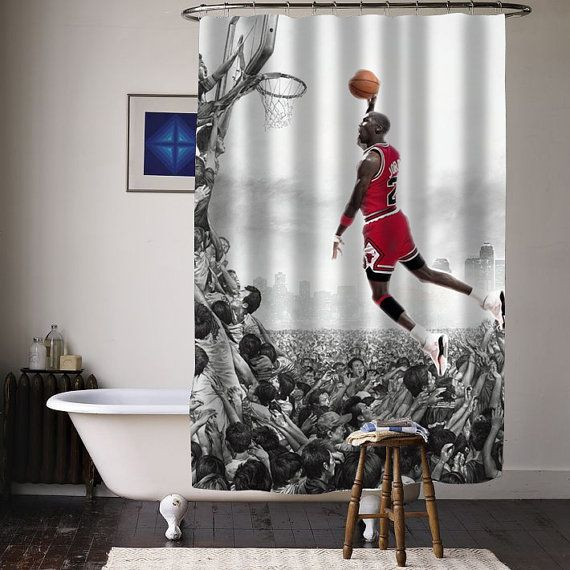 Michael Jordan Fly Special Custom Shower Curtains By Curtainasu