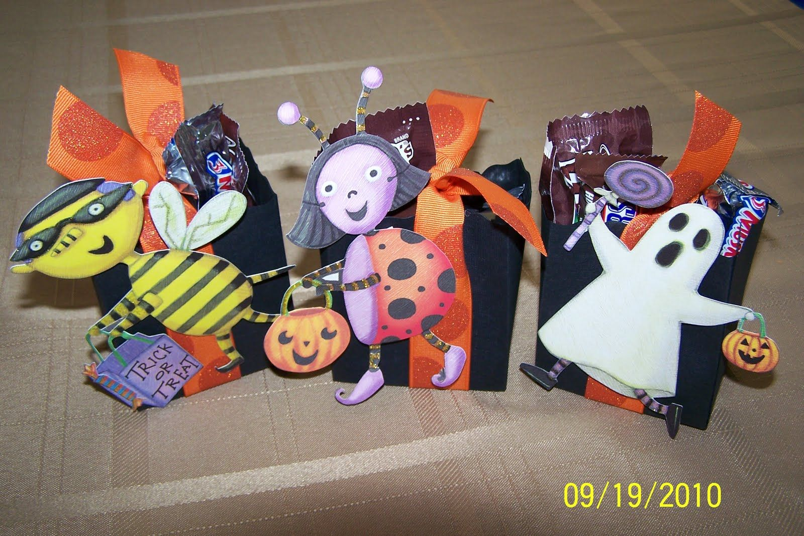 stampin up halloween box   Stampin' Up Fancy Favor Halloween Treat Boxes