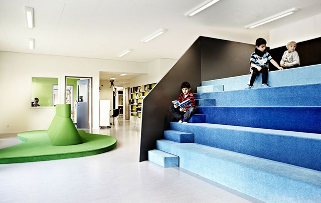 Colorful & Multifunctional Learning Spaces at theVittra school in Stockholm |