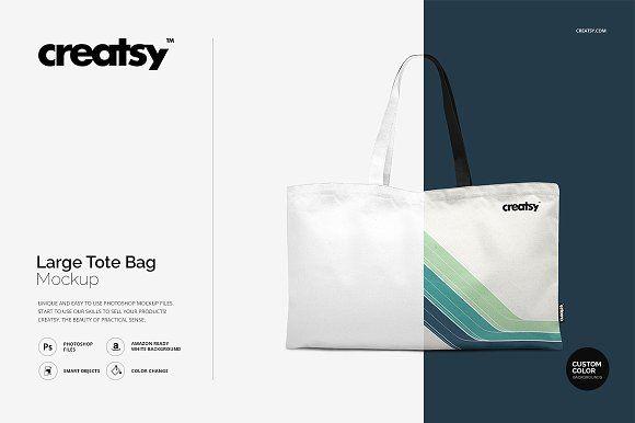 Download Large Tote Bag Mockup Set Bag Mockup Large Tote Bag Tote Bag