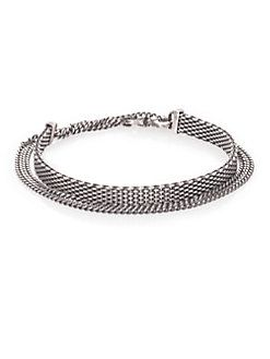 Title of Work - Sterling Silver Mesh & Chain Bracelet