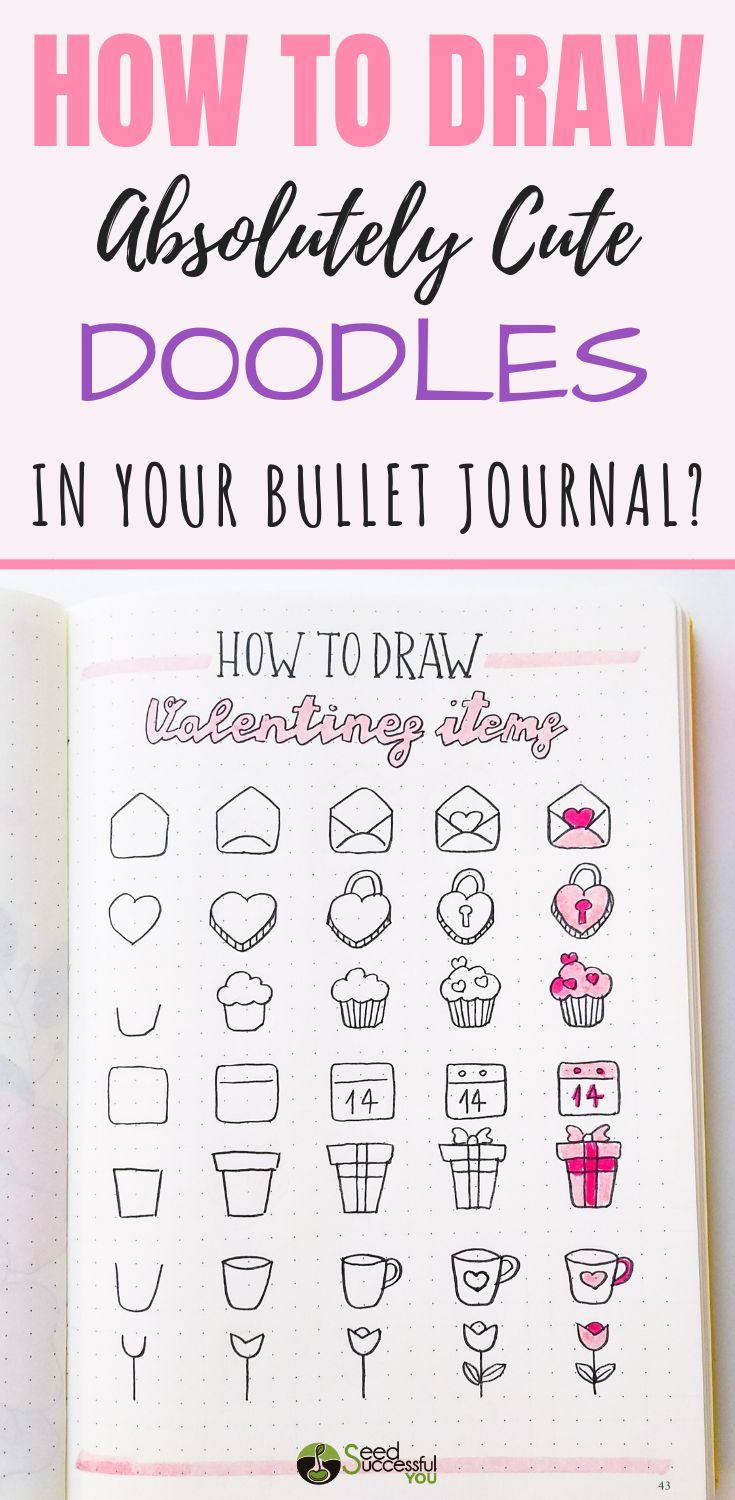 How to Draw Absolutely Cute Doodles in Your Bullet Journal