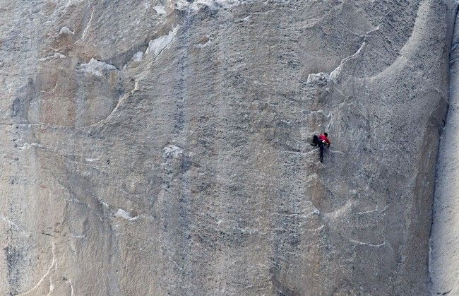 Kevin Jorgeson climbs what has been called the hardest rock climb in the world: a free climb of El Capitan in California's Yosemite National Park.