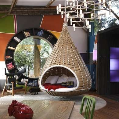 10 Playful Examples Of Swinging And Swaying Furniture Hanging Bed Hanging Beds Swinging Chair