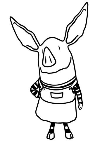 Olivia The Pig Coloring Page Free Printable Coloring Pages Cartoon Coloring Pages Cute Coloring Pages Cute Baby Pigs