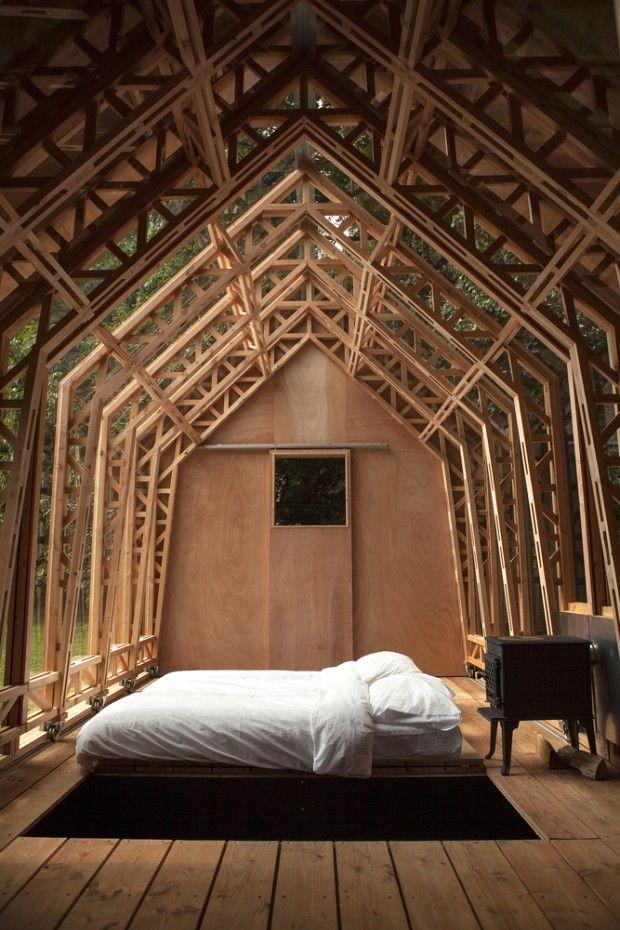 Abri de jardin accordéon par Caspar Schols | Architecture, Cabin ...