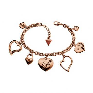Guess UBB11395 armband Heart charm rosegold - Mine!! Birthdaypresent!