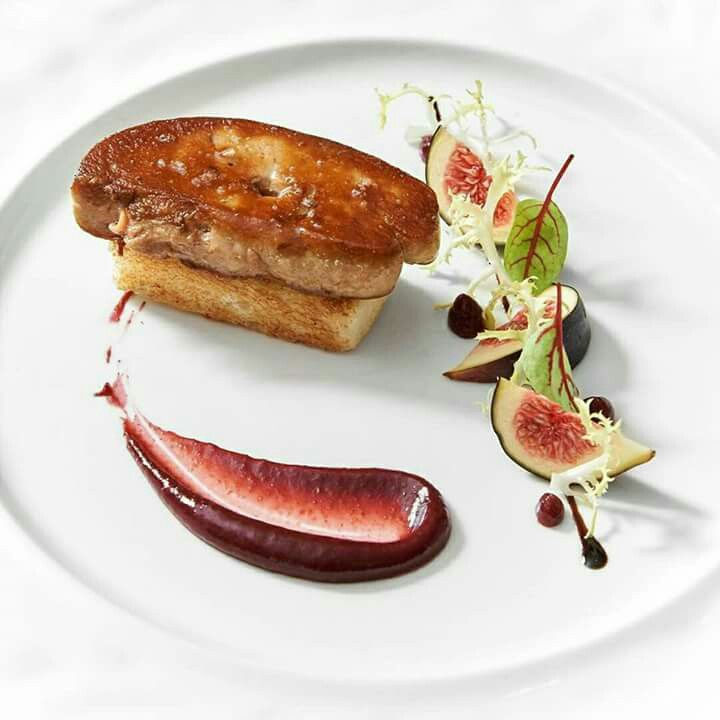 Foie gras pr sentation pinterest assiette for Assiette foie gras decoration