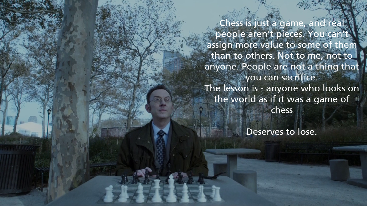 People | Chess | Person of interest, Harold finch, Chess
