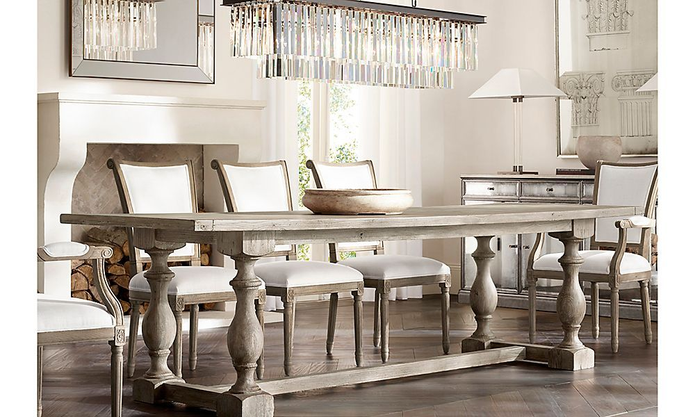Rooms rh 17th c priority dining table 1295 1995 for Dining room tables at restoration hardware