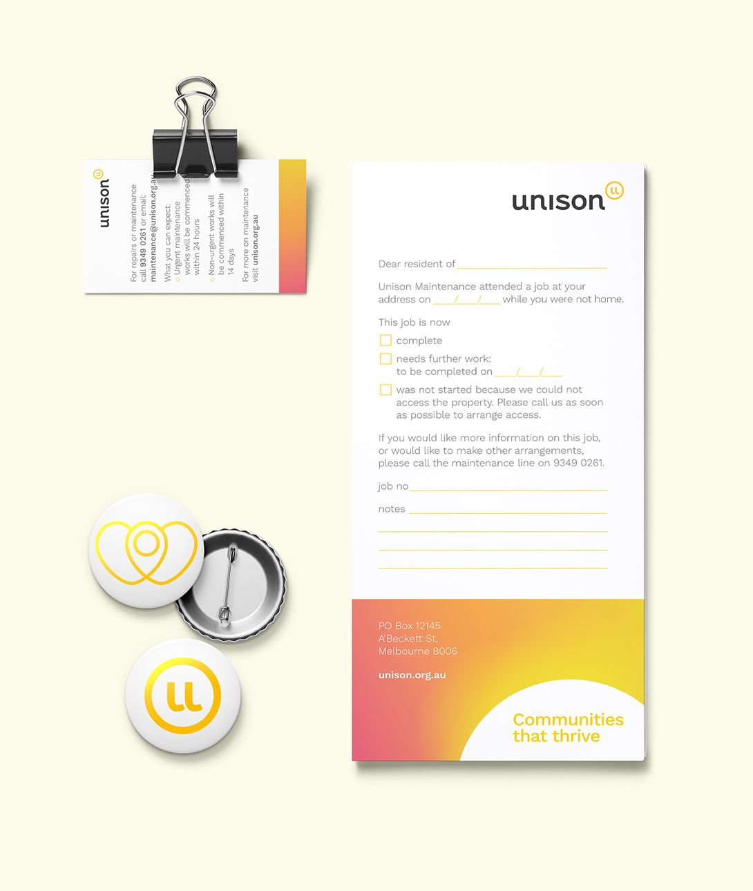 Printed collateral designed for Unison  | Liquorice | Unison