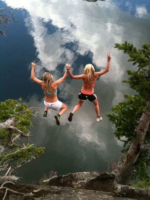best friends jump off of cliffs together.   I can get into ...