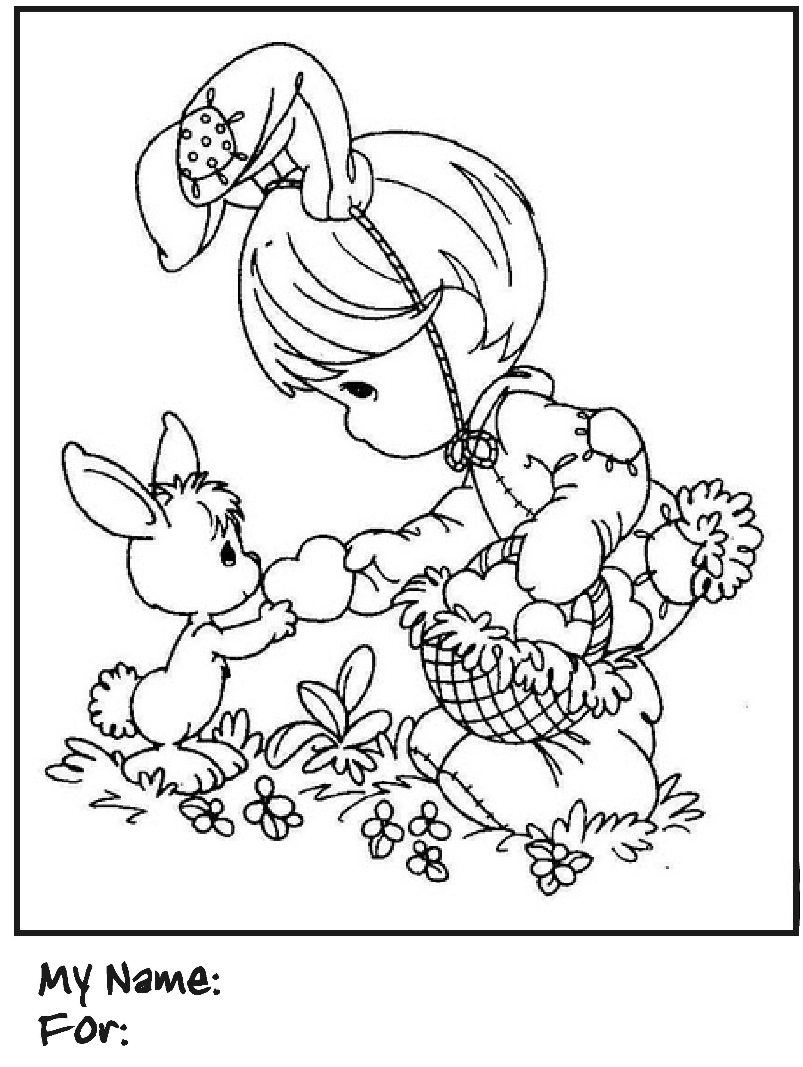 Image Detail For Have Fun Coloring This Precious Moments Easter Bunny Coloring Page