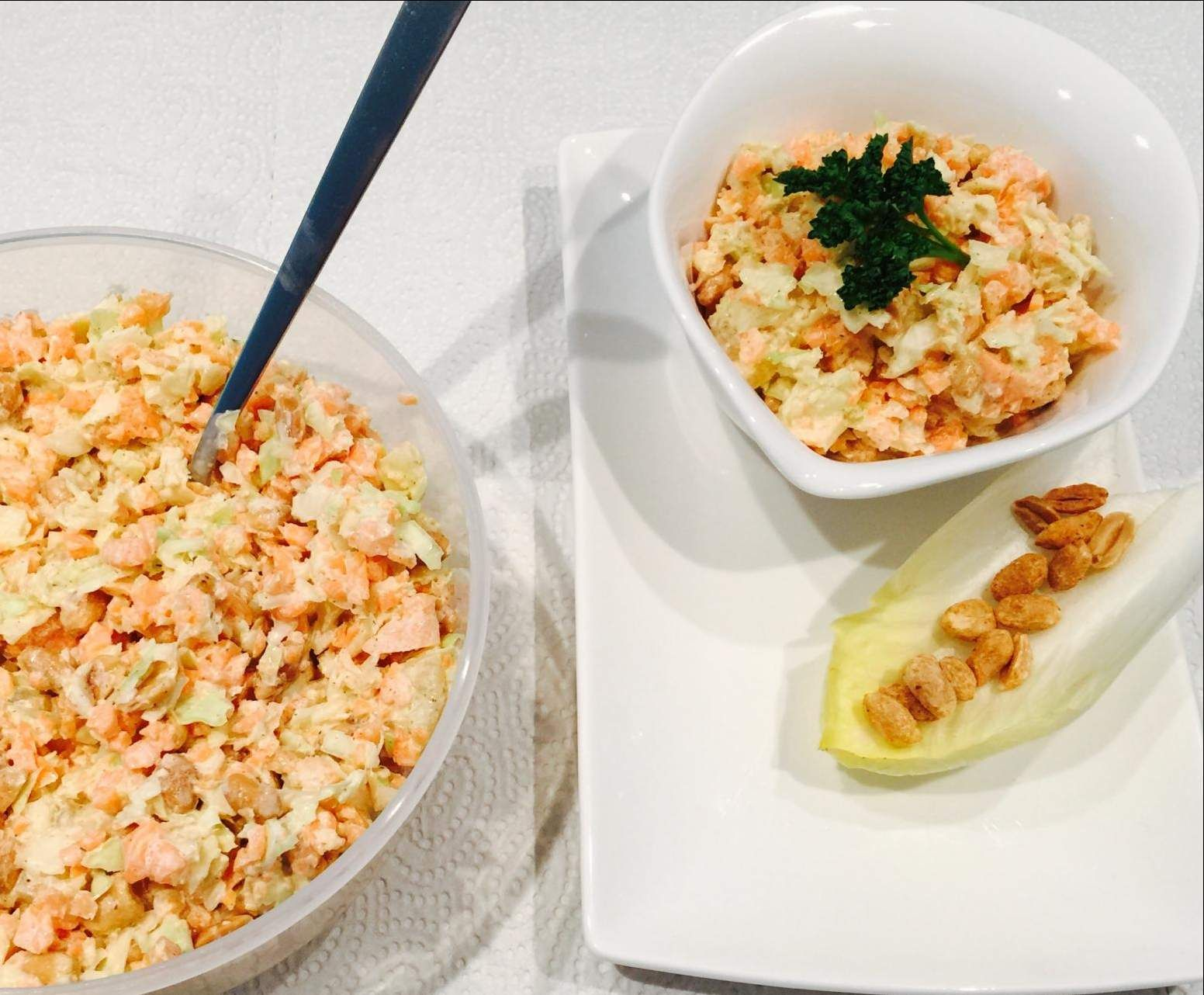 ananas karotten kohl salat mit erdn ssen rezept kochrezepte pinterest kohl salat. Black Bedroom Furniture Sets. Home Design Ideas