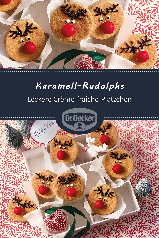 Weihnachtsplätzchen Backen Dr Oetker.Karamell Rudolphs