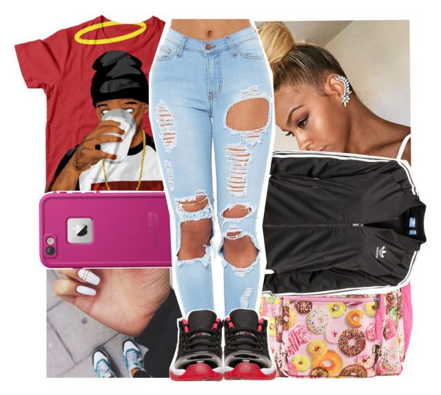 """""""today"""" by lowkeytayy ❤ liked on Polyvore featuring JanSport, LifeProof, adidas Originals and Retrò"""