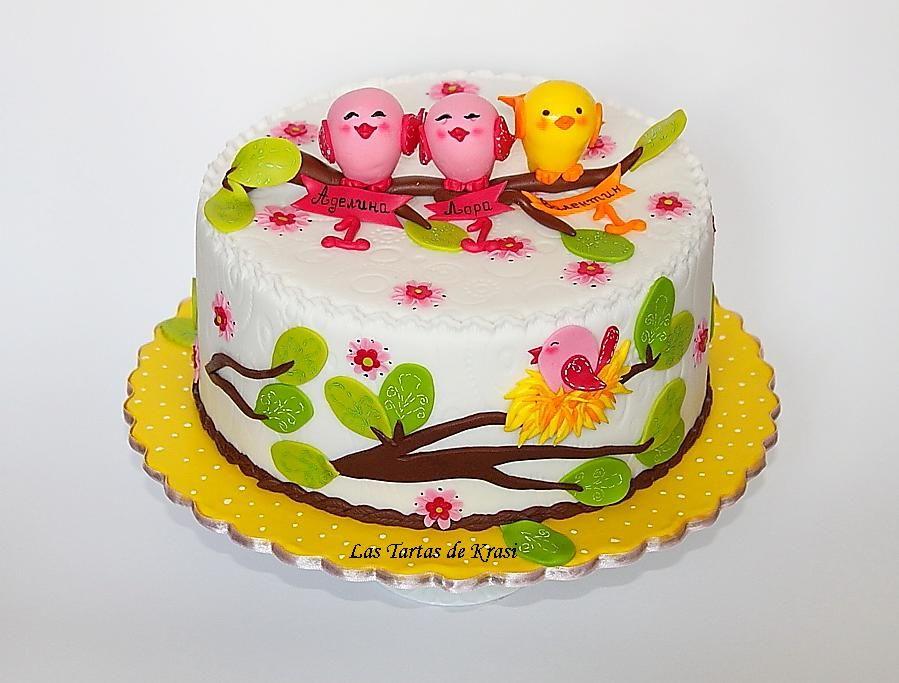 Childrens Birthday Cakes Sweet Tweet Bird cake Para los chiquis