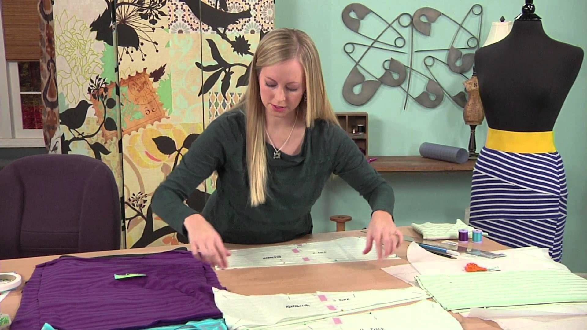 Sewing Tutorial: Bandage Style Knit Skirt