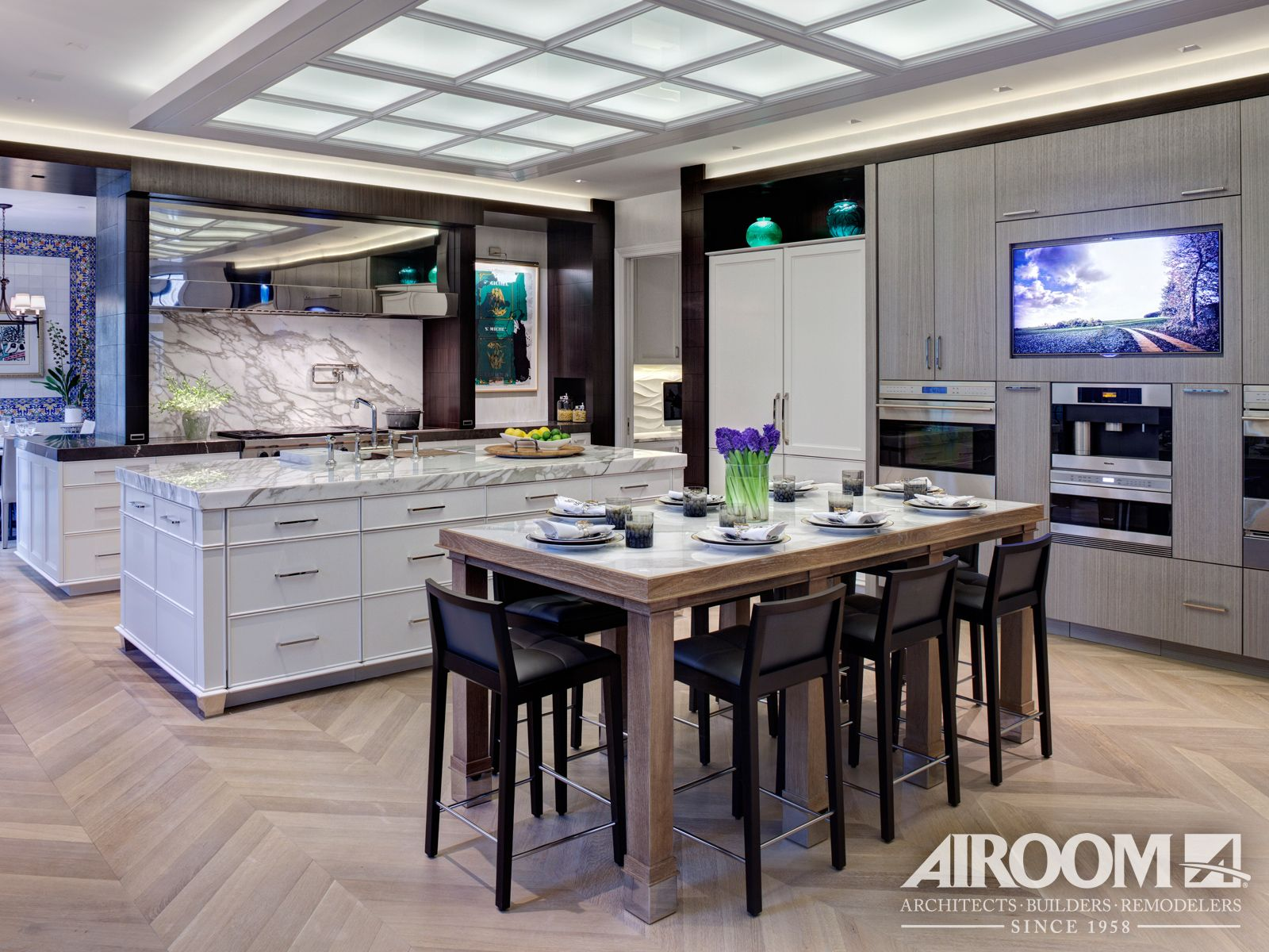 This Winnetka kitchen remodel features a modern