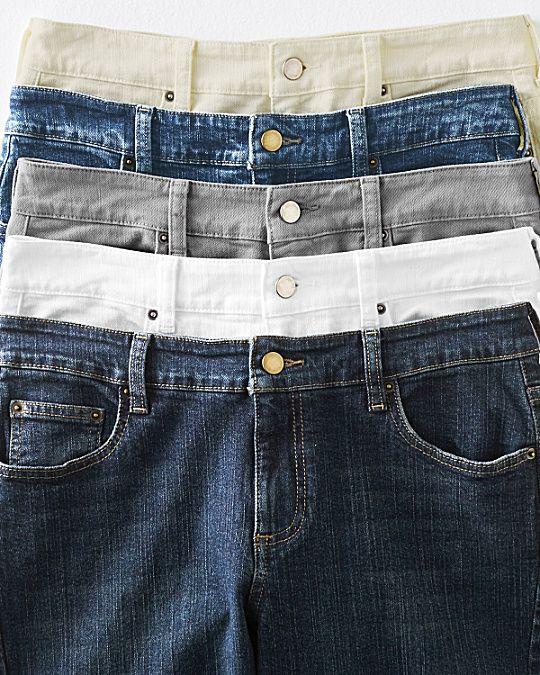 Signature Five-Pocket Slim Jeans
