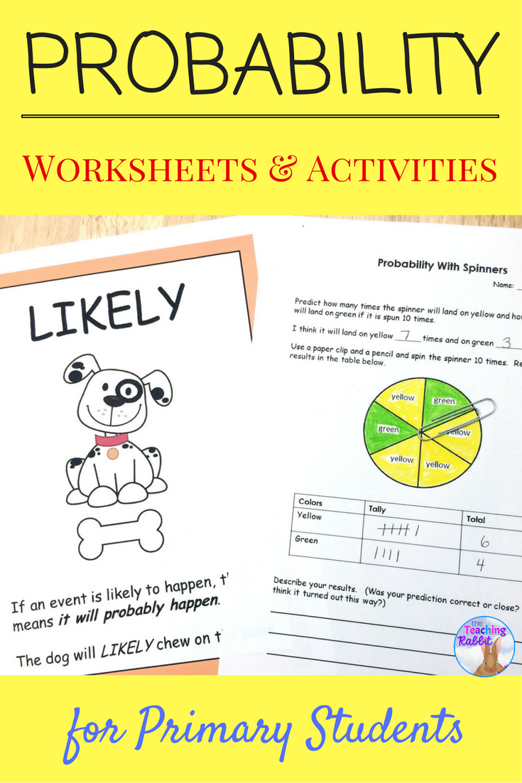 Probability Activities (2nd Grade)   Probability worksheets [ 1102 x 735 Pixel ]