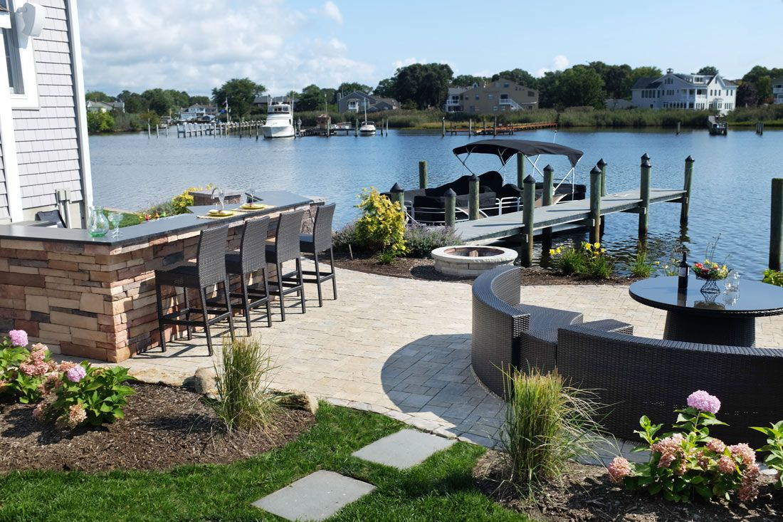 Waterfront Landscaping - Planning and Design | Backyard ... on Lakefront Patio Ideas id=52697