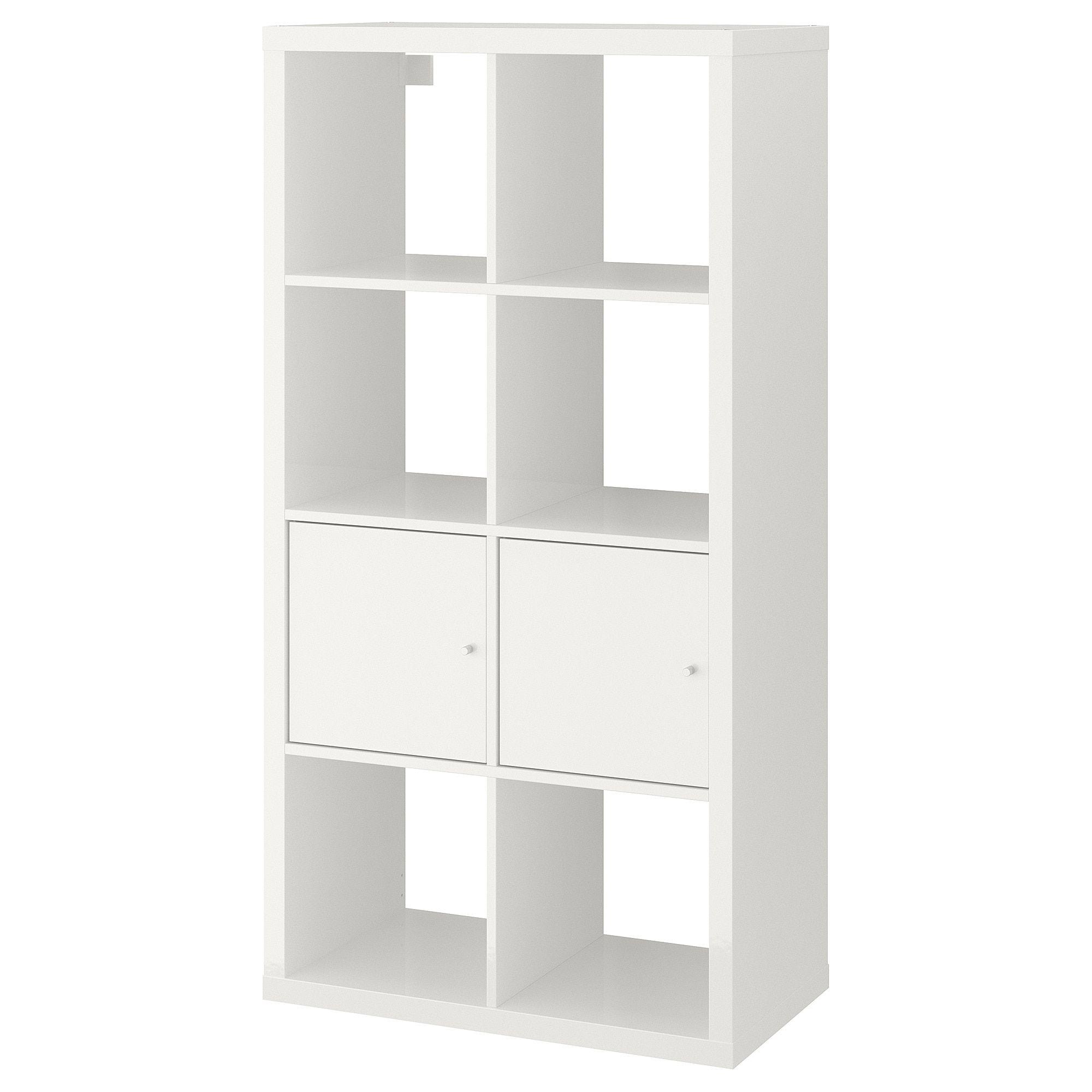 KALLAX Shelf unit with doors, high