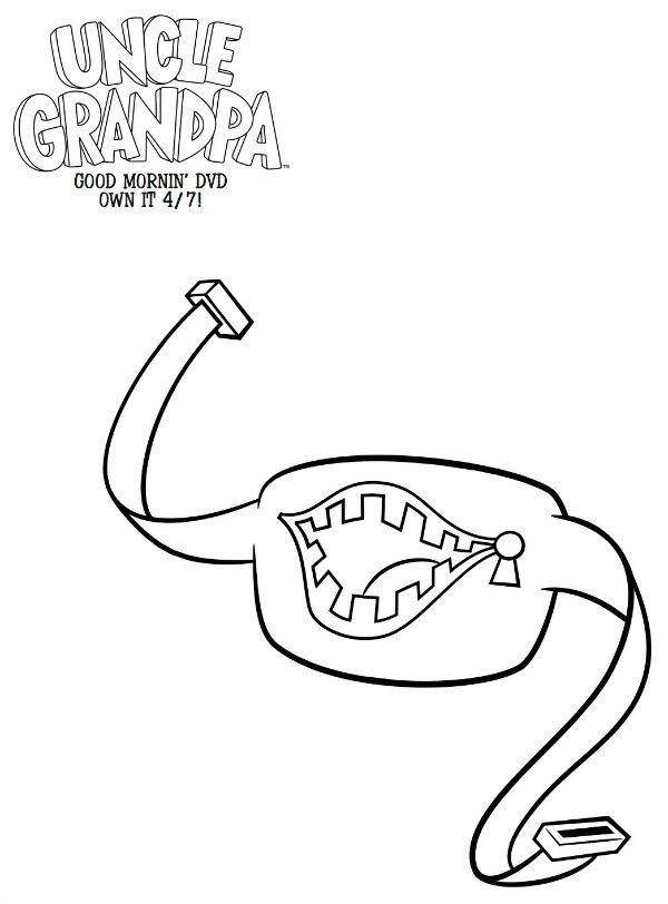 Free Printable Uncle Grandpa Belly Bag Coloring Page
