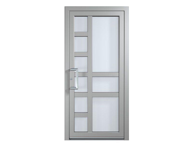 Resultado de imagen para puertas en aluminio y vidrio for Puertas metalicas exterior