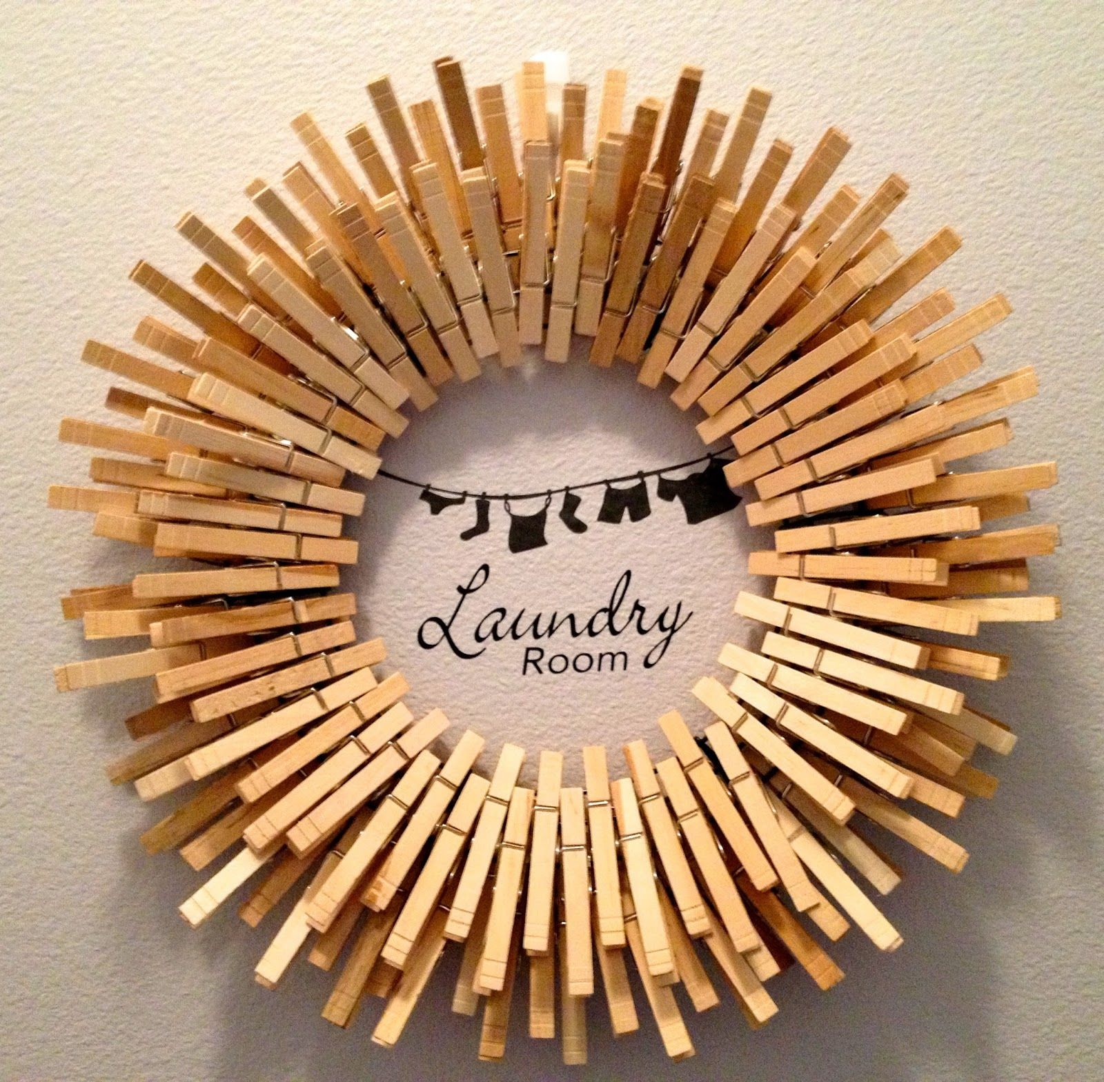 Starburst Laundry Room Clothespin Wreath Clothes Pin Wreath Clothes Pin Crafts Clothes Pins