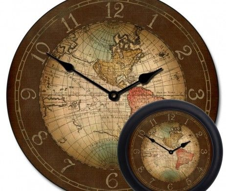 Ideas for our large wall decorating ideas pinterest clocks century world map clock mix gumiabroncs