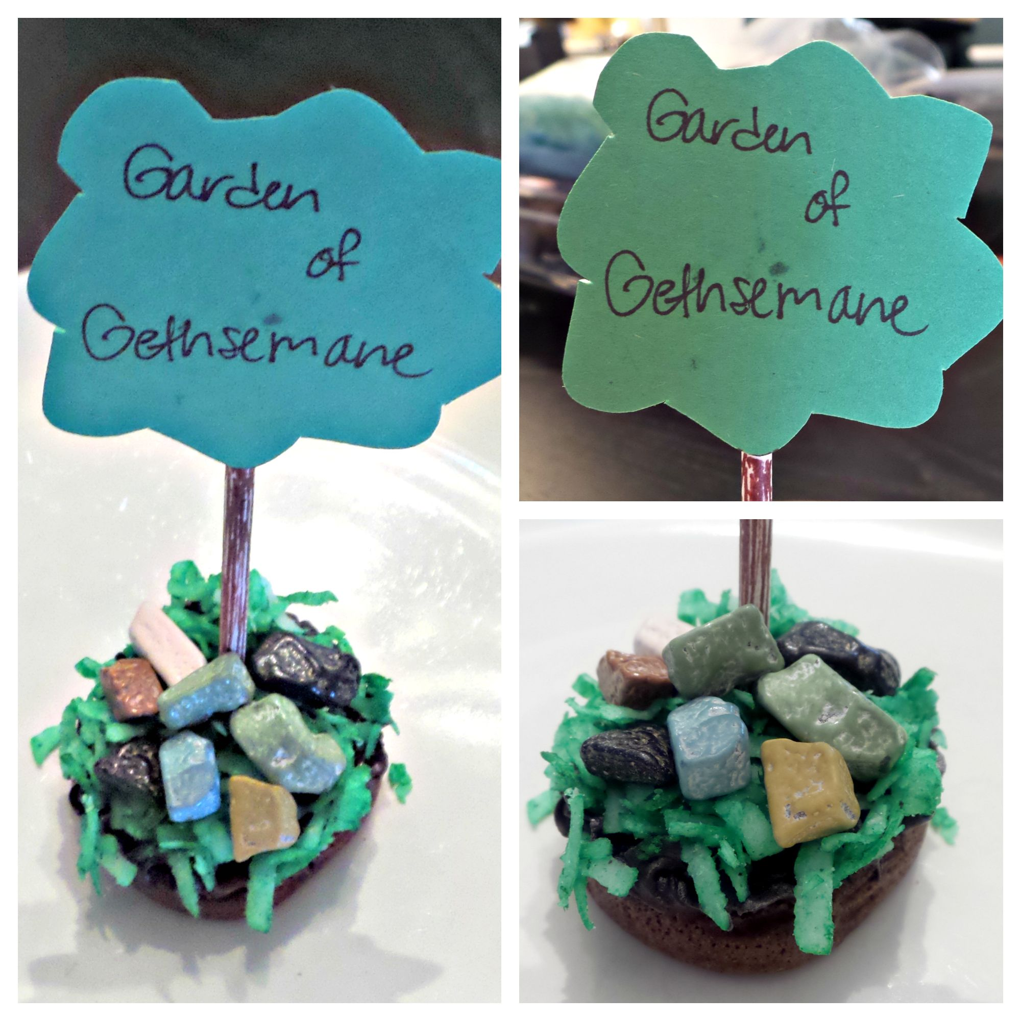 Garden of Gethsemane Cupcakes. We will be using this as a snack