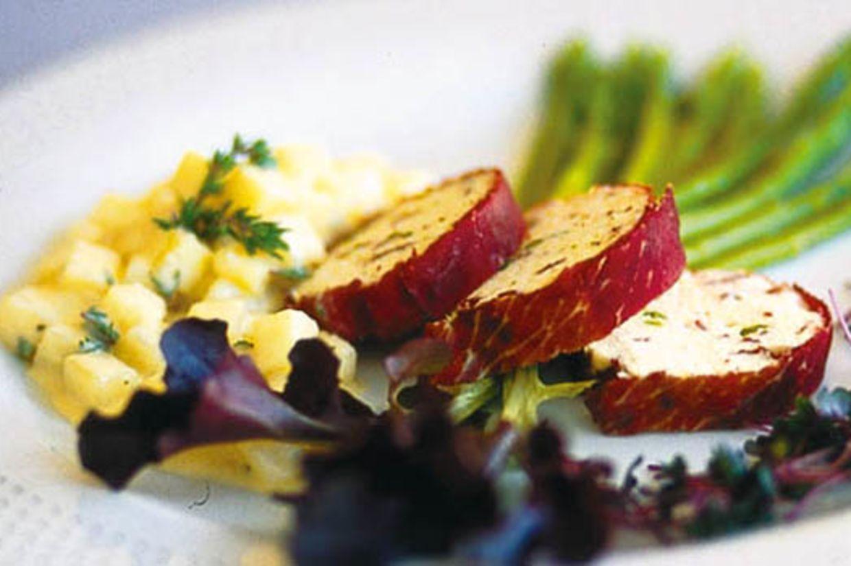 Sommerküche Wildeisen : Geflügelterrine im bündnerfleischmantel rezept rezepte
