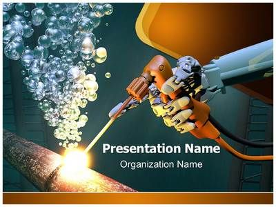 underwater welding powerpoint template is one of the best, Modern powerpoint