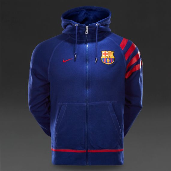 55a25cfc3c509 Nike FC Barcelona Authentic Aw77 Fz Hoody - Loyal Blue Storm Red