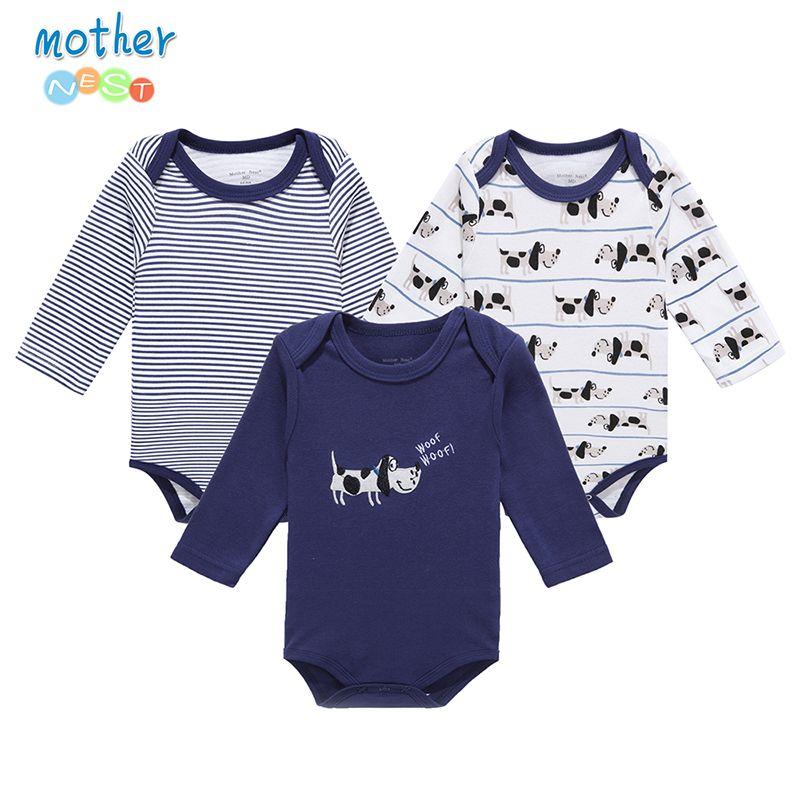 Madre Nido 3 PcsLot Bebé Mameluco Infantil Del Mameluco Del Mono de ...